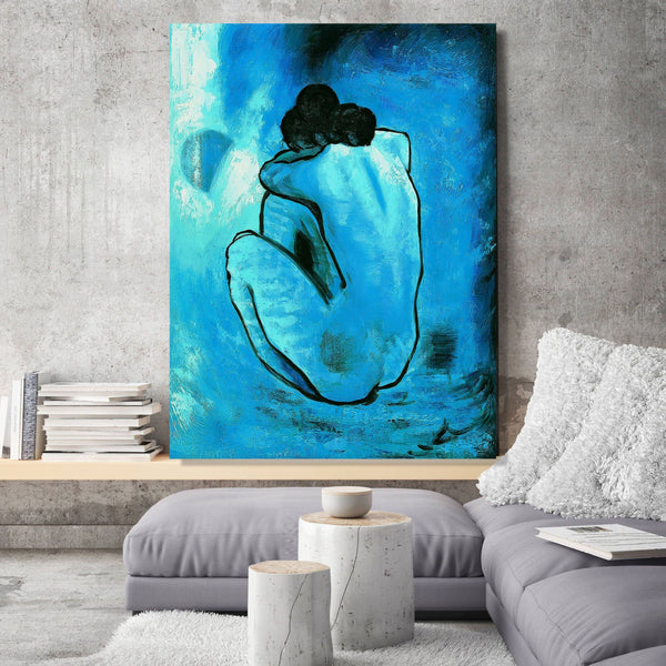 Blue Nude, Blue Woman, Picasso inspired Painting