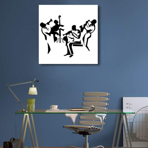 Jazz Band, Digital Art – Metal Art Print