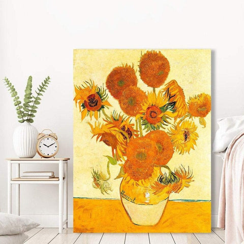 Sunflowers, Masterpiece - Reproduction on metal