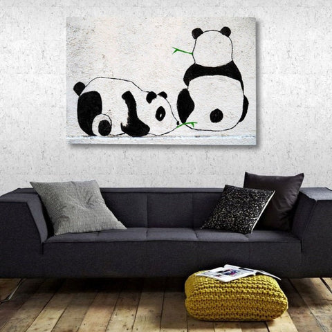 Two Pandas Graffiti