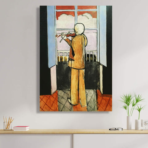Violinist at the Window, Reproduction on Metal
