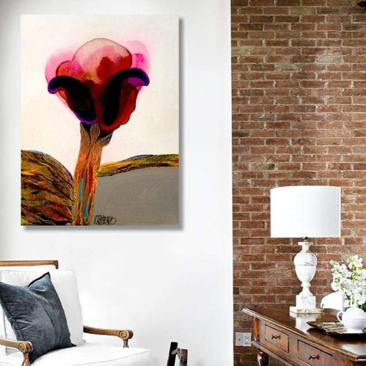 Flower C, Abstract Contemporary Art - Reproduction on