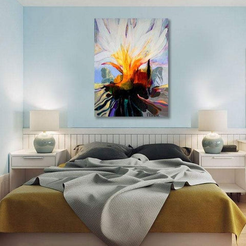 Flower W, Abstract Contemporary Art - Reproduction on Metal