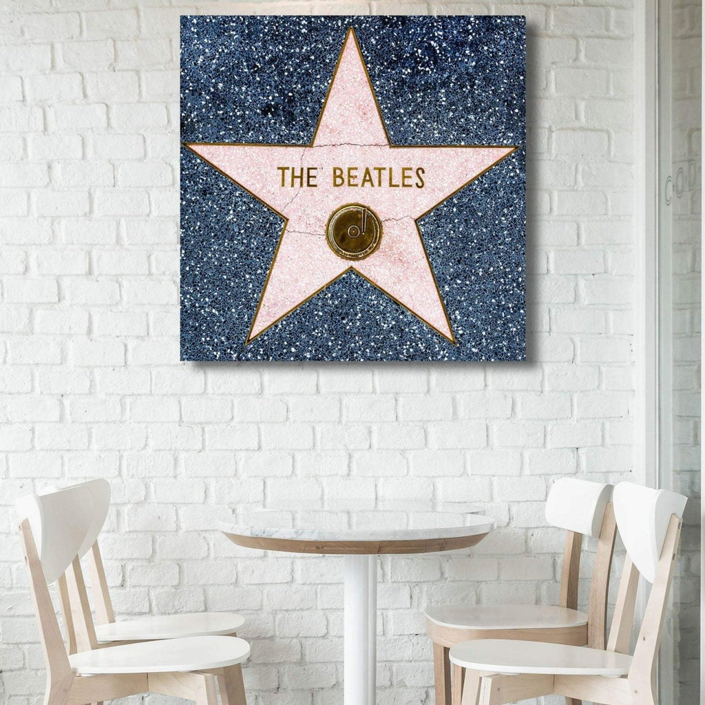 The Beatles Star Of Fame LA Hollywood - Metal Poster