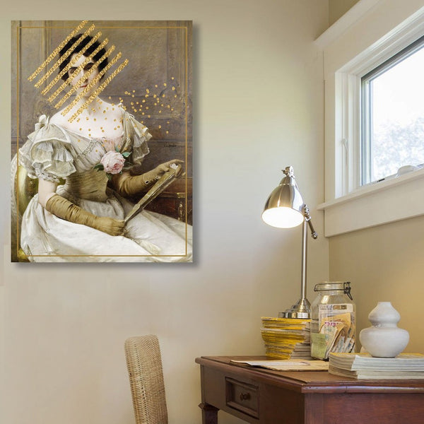 Gold Lady, Altered Art – Metal Art
