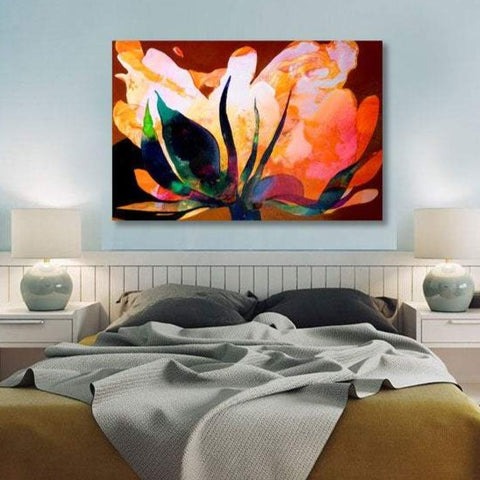 Flower A, Abstract Contemporary Art - Reproduction on Metal