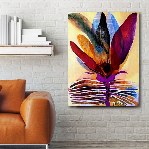 Flower V, Abstract Contemporary Art - Reproduction on Metal