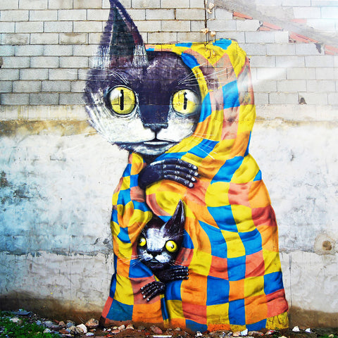 Cats, Graffiti – Metal Art
