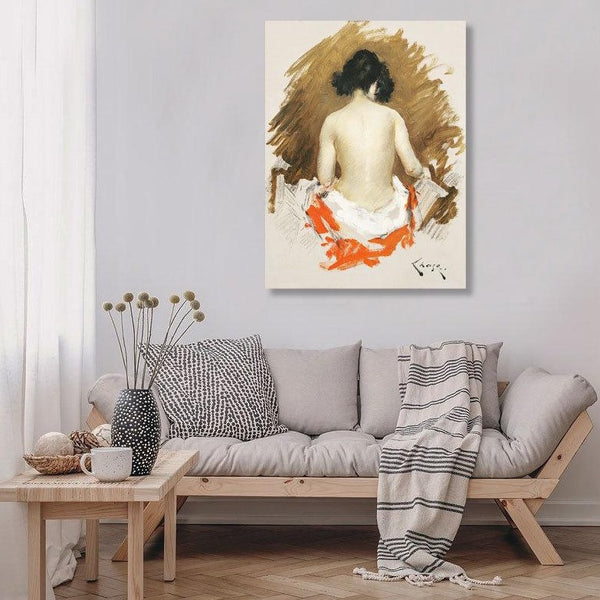 Naked Japanese Woman with a kimono, Nude, Vintage Erotic Art