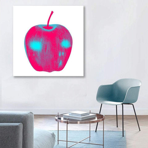 Magenta/Blue Apple, Digital Art – Metal Poster