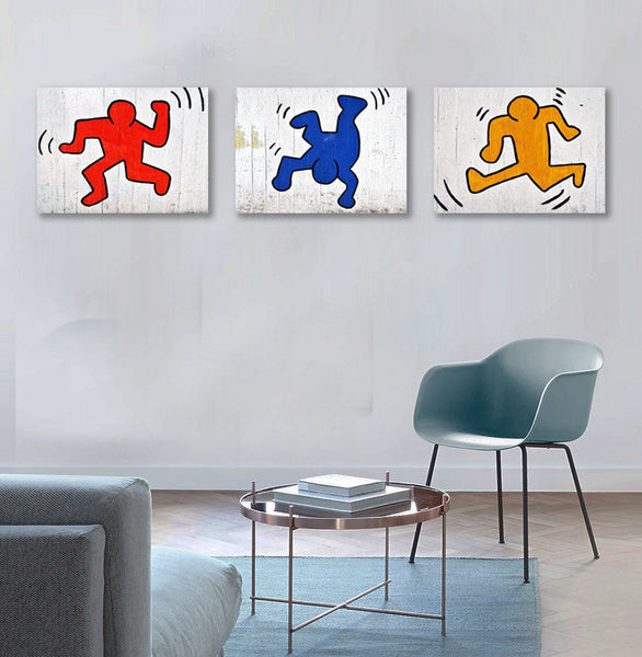 Graffiti Dancing Figures, Keith Haring Inspired – Metal Poster