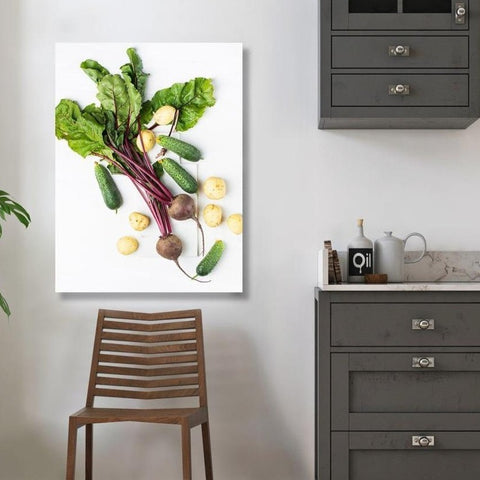 Vegetables Still Life, Food Photography – Metal Art