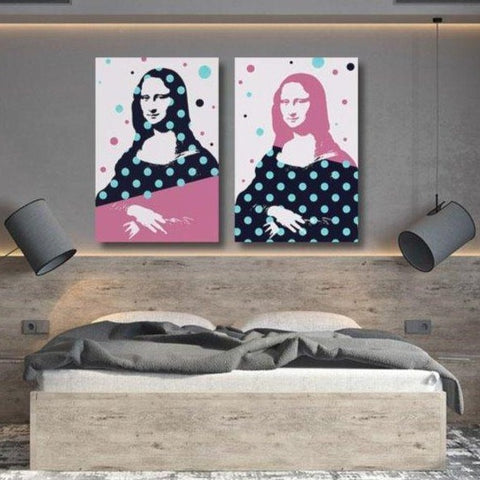 Secret Mona Lisa Banksy Inspired – Print on Metal