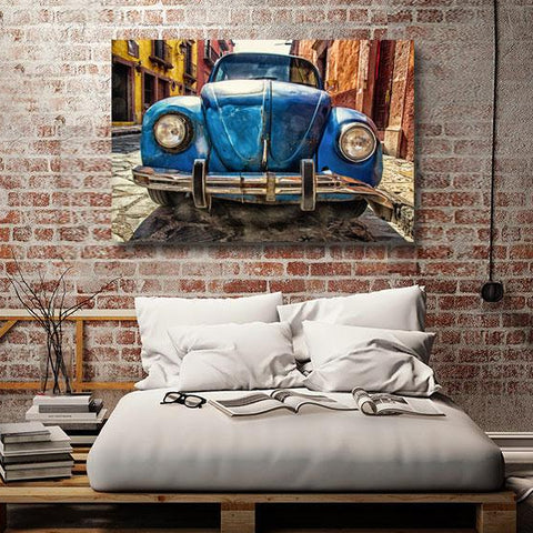 Retro car in Grunge Style – Modern Art