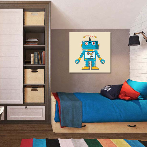 Robot Hipster – Digital Art – Large Metal Wall Art