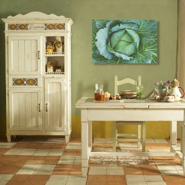 Cabbage Green – Kitchen Art – Photo on Metal