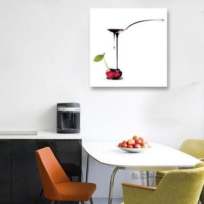 Chocolate and Cherry – Extra Large Kitchen Art on metal