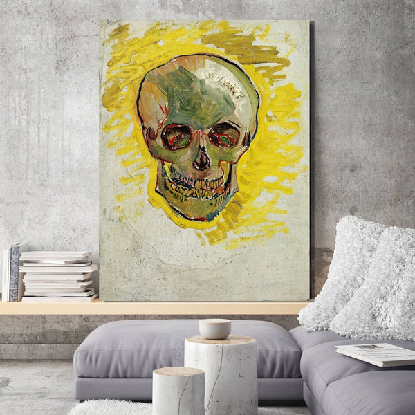 Vincent Van Gogh Skull – Reproduction on Metal