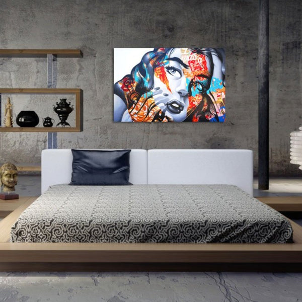 Fashion Woman – Graffiti Street Art – Large Scale Print on Metal