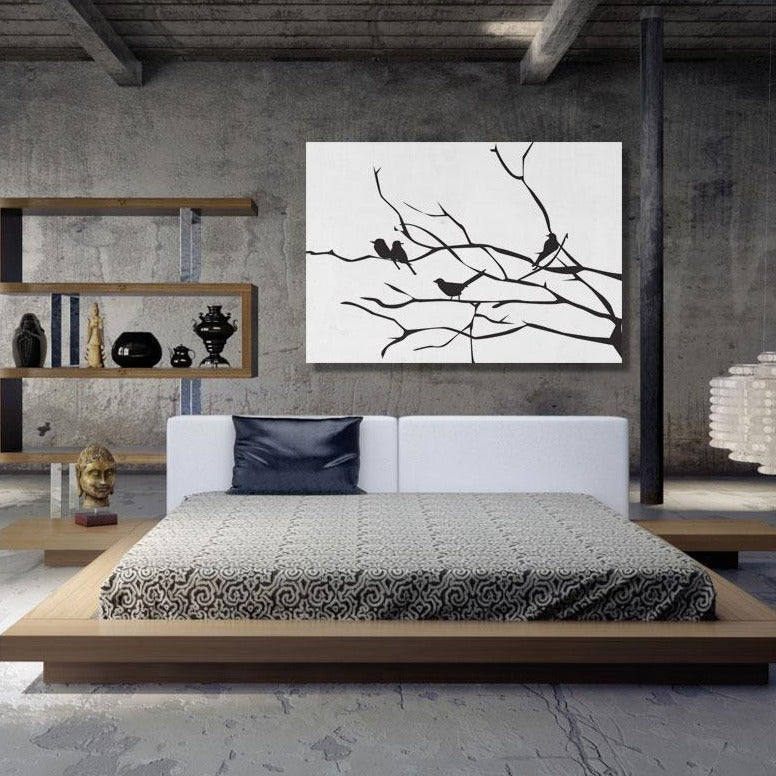 Birds on the branch – Extra Large Digital Modern Art