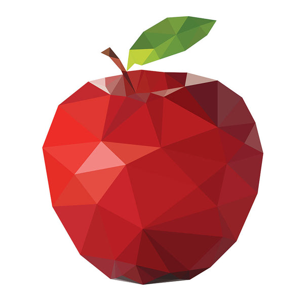 Red Apple – Extra Large Digital Modern Metal Art