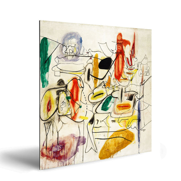Arshile Gorky – Untitled, Contemporary Art – Reproduction on Metal