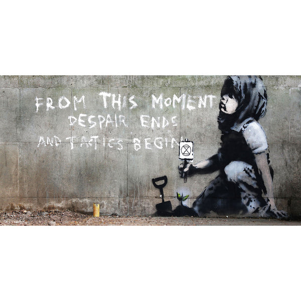 BANKSY, Girl Extinction Rebellion – Graffiti Street Art
