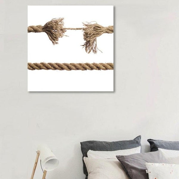 Still Life with Rope Modern Minimalism Wall Art – Photo on Metal