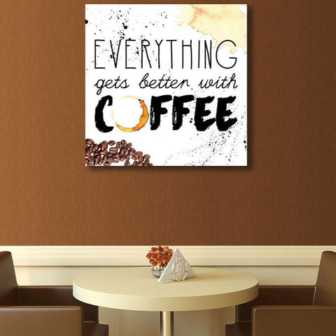 Coffee Quote Digital Art – Metal Poster