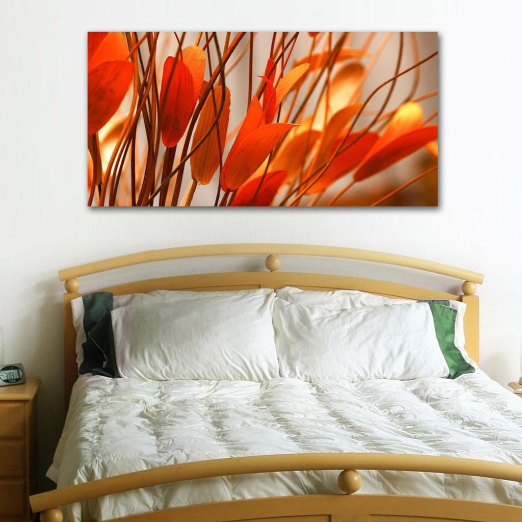 Orange leaves – Extra Large Photo Printed on metal