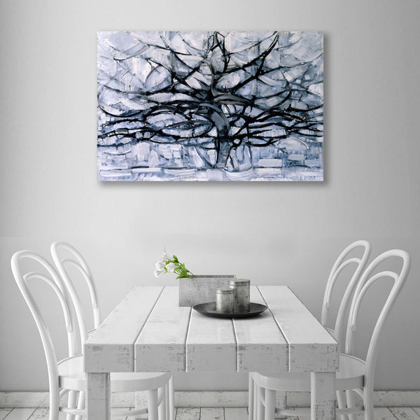 Gray Tree – Reproduction Printed on Metal