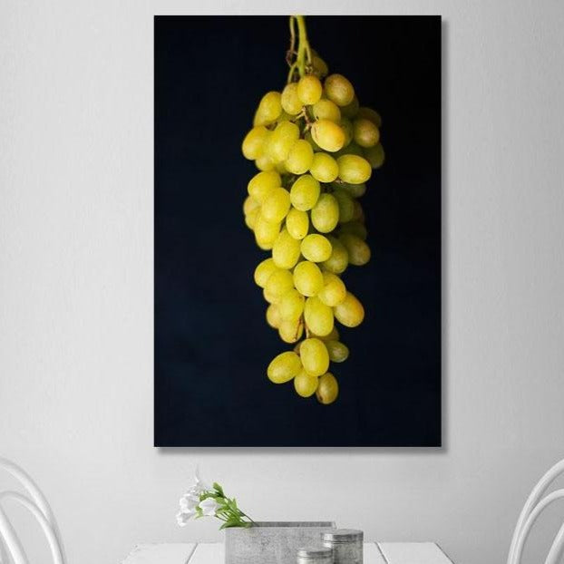 Bunch of Grapes – Extra Large Kitchen Art printed on Metal