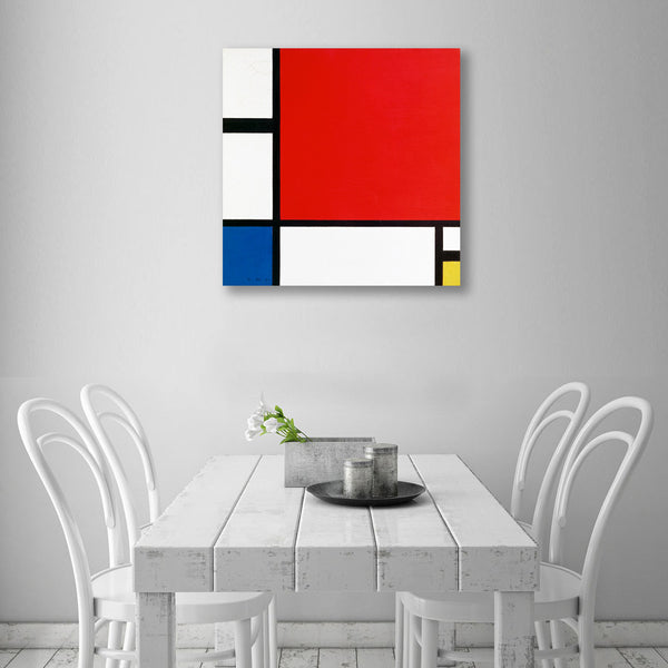 Piet Mondrian, Geometric Composition – Reproduction on Metal