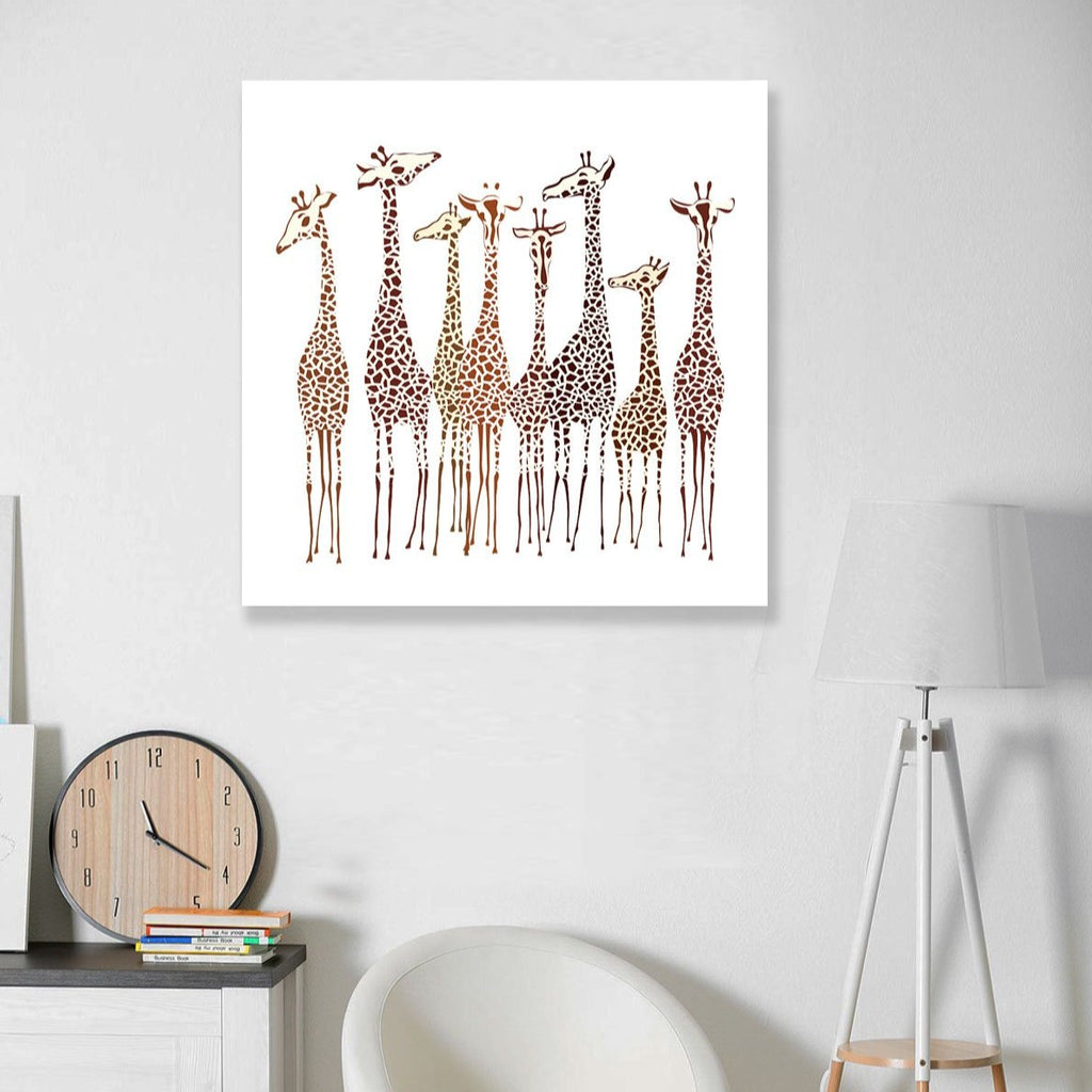 Hand-drawn Giraffes – Extra Large Metal Poster