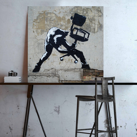 Banksy, Chair smash (based on London Calling album) – Graffiti Street Art