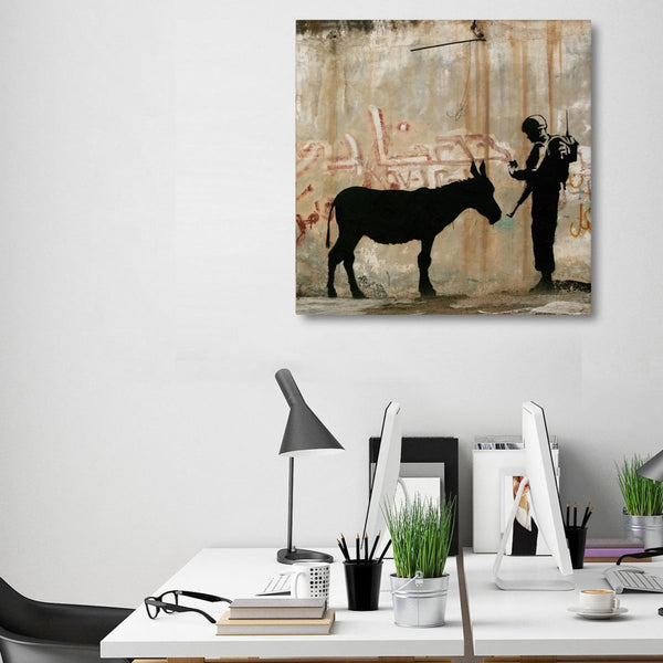 Banksy Donkey Documents – Street Art – Photo Printed on Metal