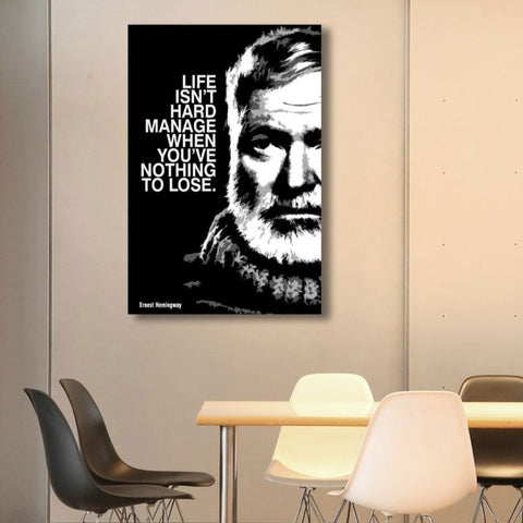 Ernest Hemingway Quote – Metal Poster