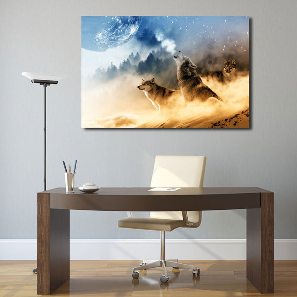 Extra Large Metal Art Print in office interior