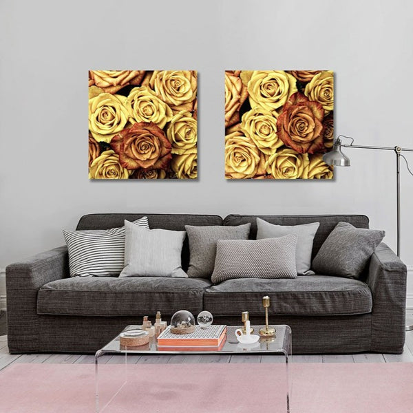 Vintage Yellow Roses Pattern – Modern Art