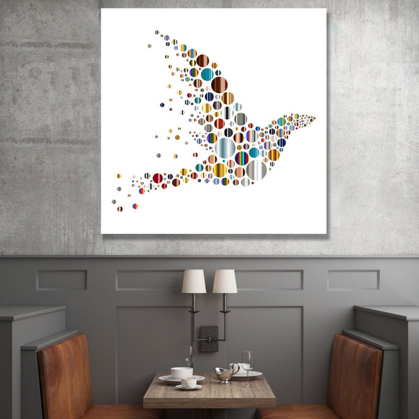 Bird, Abstract Digital Art – Extra Large Wall Metal Print
