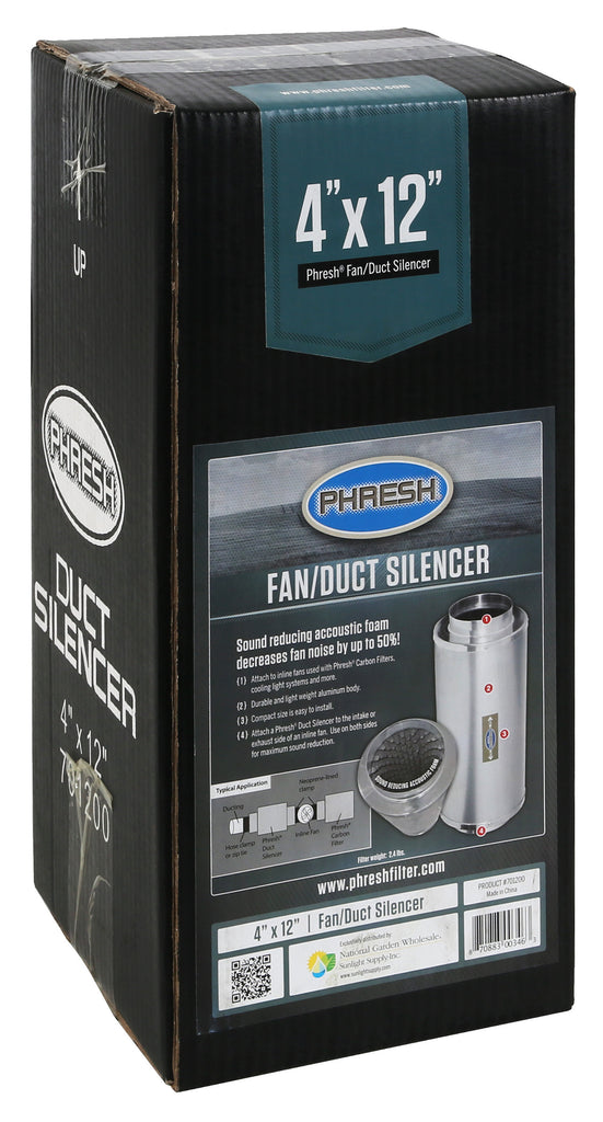 Phresh Duct Silencer 4 in x 12 in