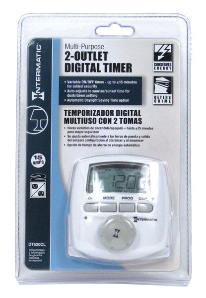 Intermatic® Multi-Purpose DT620 CL Digital Timer
