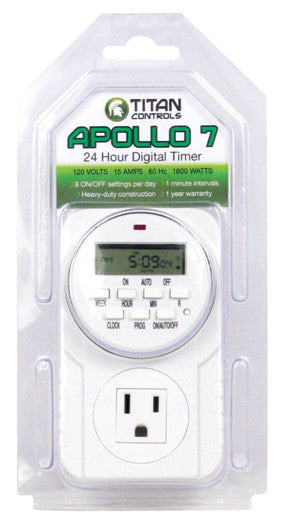 Titan Controls® Apollo® 7 - One Outlet Digital Timer
