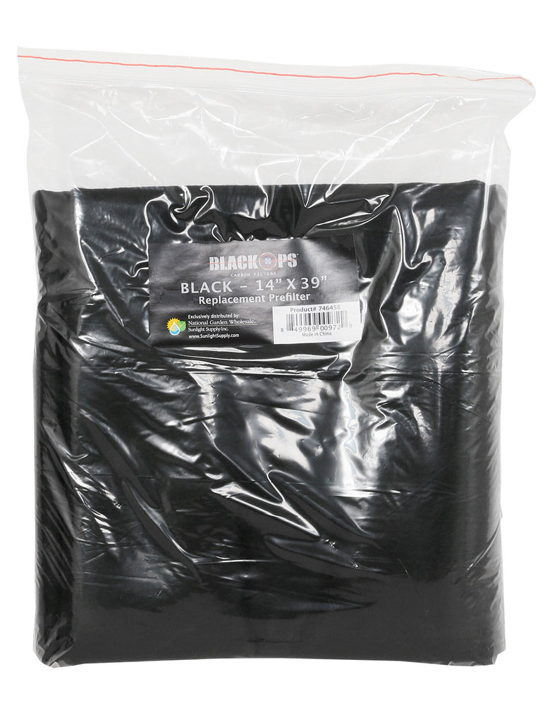 Black Ops Replacement Pre-Filter 14 in x 39 in Black (10/Cs)