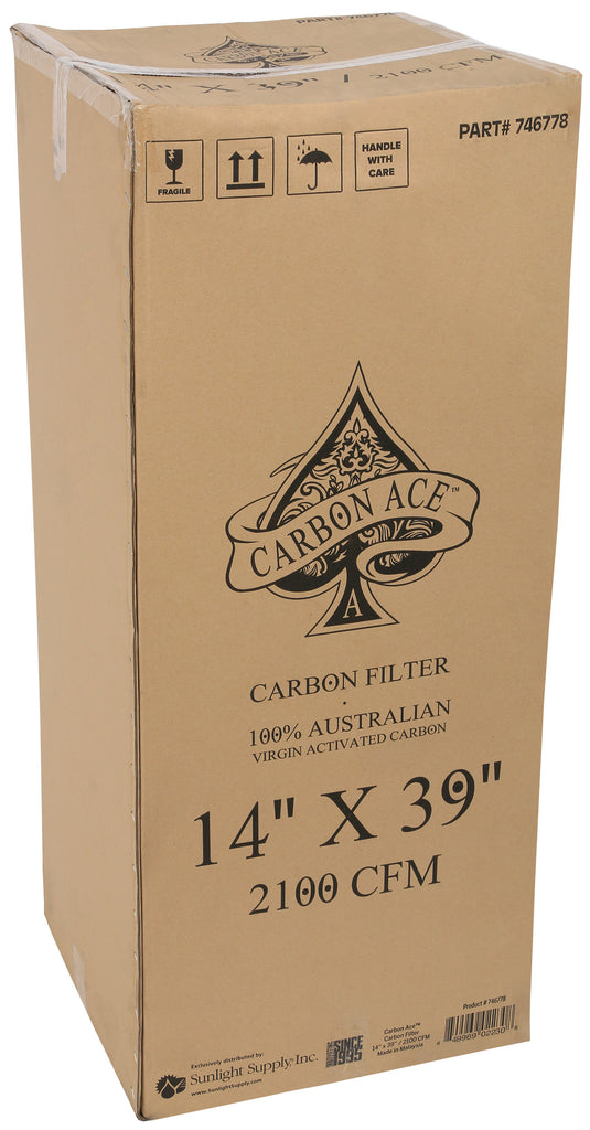 Carbon Ace Carbon Filter 14 in x 39 in 2100 CFM