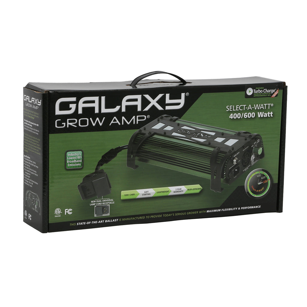 Galaxy® Grow Amp® Electronic Ballasts-Galaxy Grow Amp 600 Watt 400/600/Turbo Charge - 120 - 240 Volt