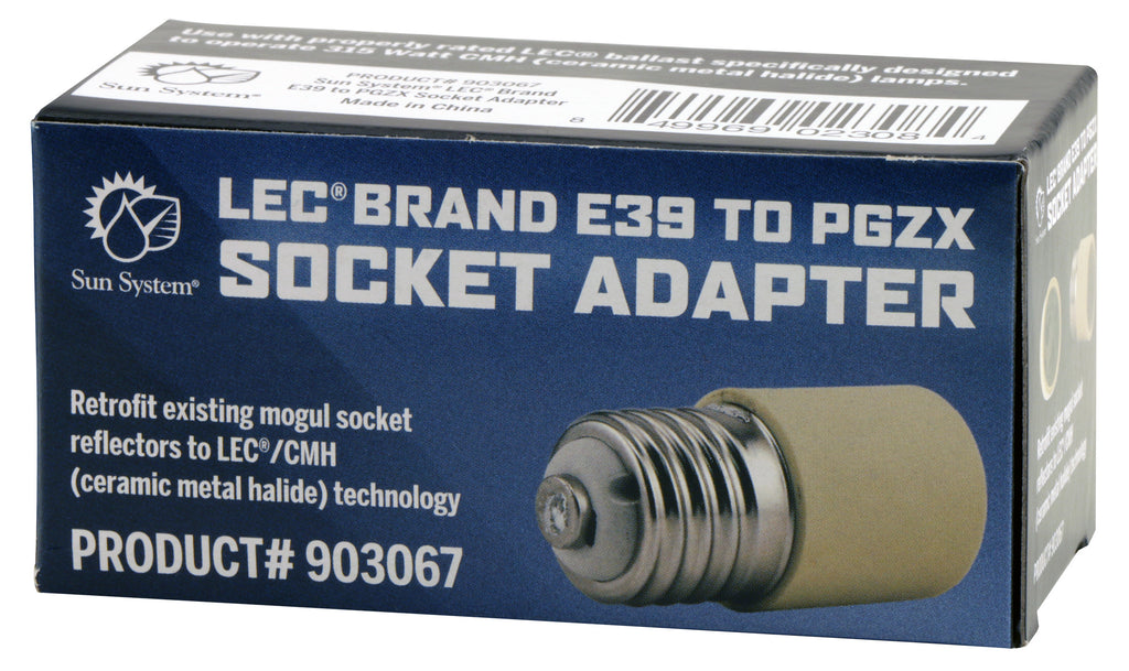 LEC® Brand E39 Mogul to PGZX Socket Adapter for CMH