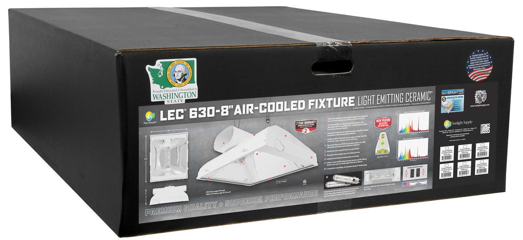 Sun System LEC 630 Air-Cooled 8 in Fixture 120 Volt w/ 4200K Lamps