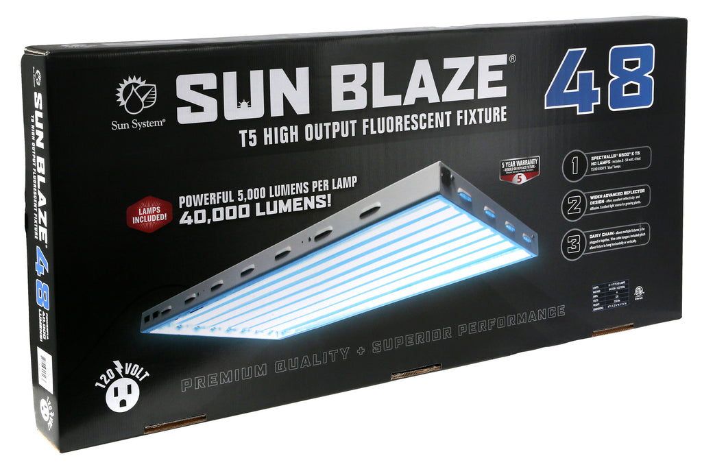 Sun Blaze T5 HO 48 - 4 ft 8 Lamp - 120 Volt