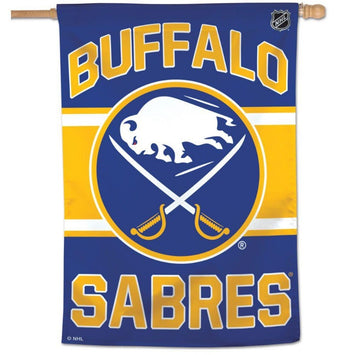 buffalo sabres blue and yellow banner flag